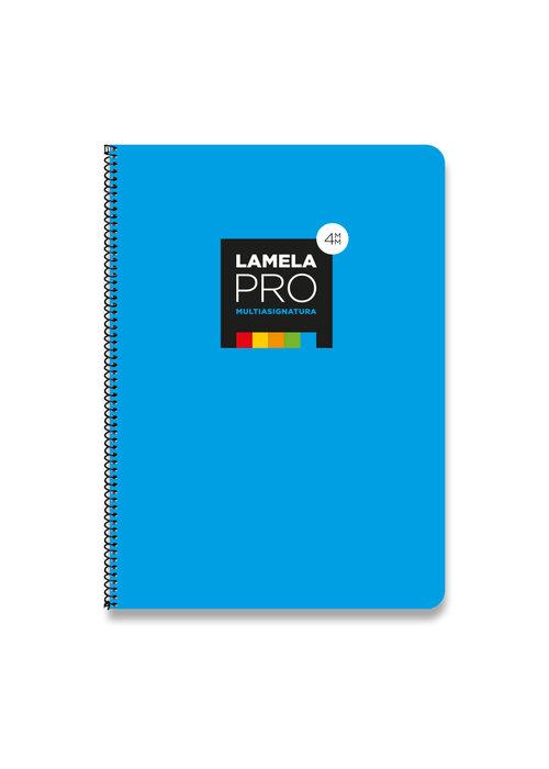 Bloc folio cuadrovia lamela 4mm tapa extradura 100h 90g azul