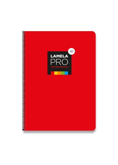 Bloc folio cuadrovia lamela 4mm tapa extradura 100h 90g rojo