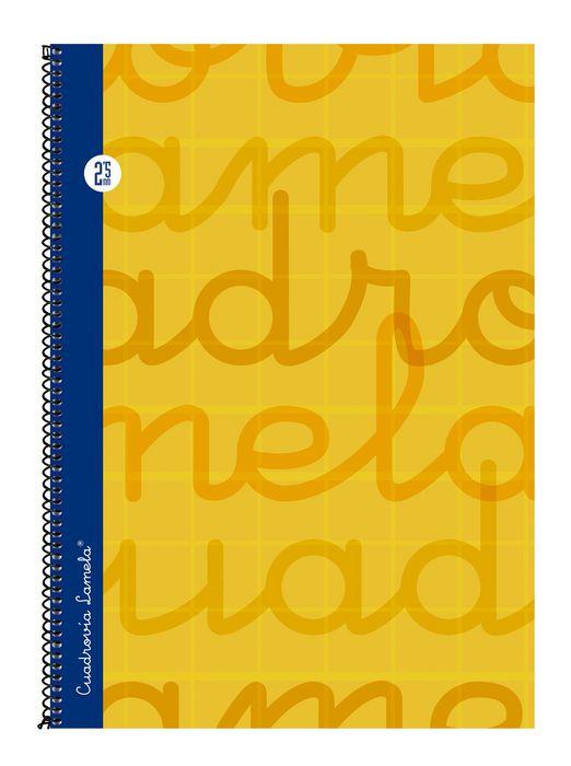 Bloc folio forrado cuadrovia 2.5mm 80h tapa dura naranja
