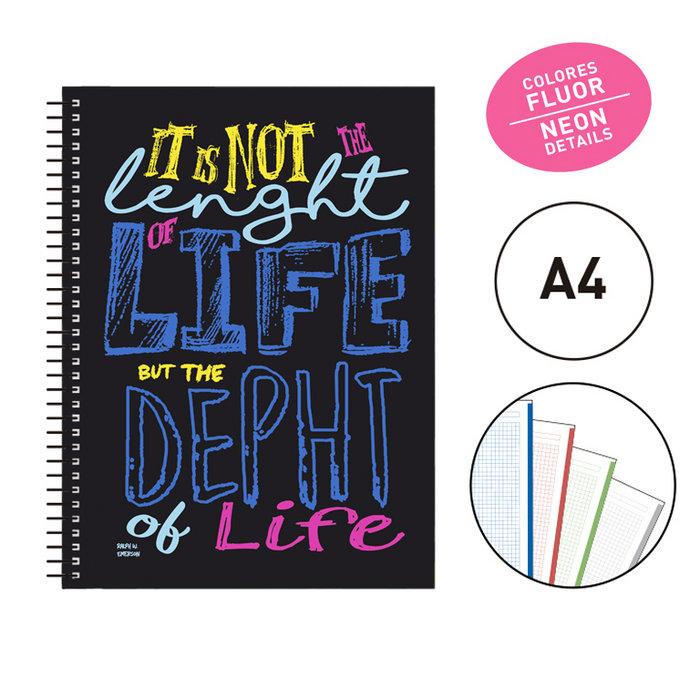 Notebook espiral a4 katacrak lettering azul 1411081