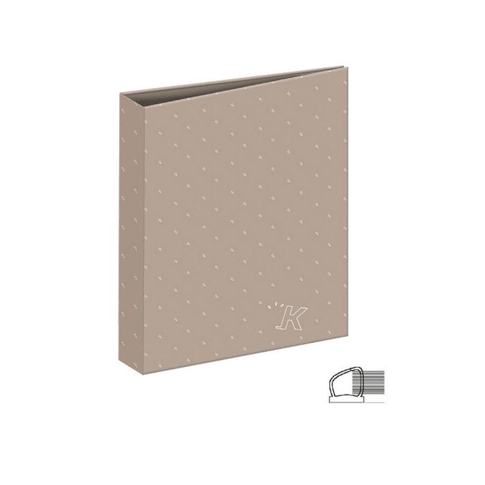 Carpeta carton a4 4 anillas unicolor ocre
