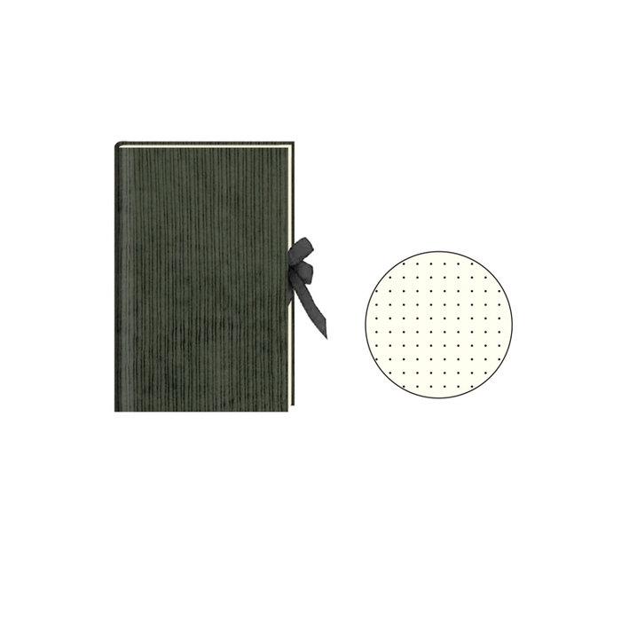 Diario con cinta pana verde