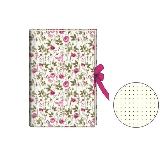 Diario con cinta flowers