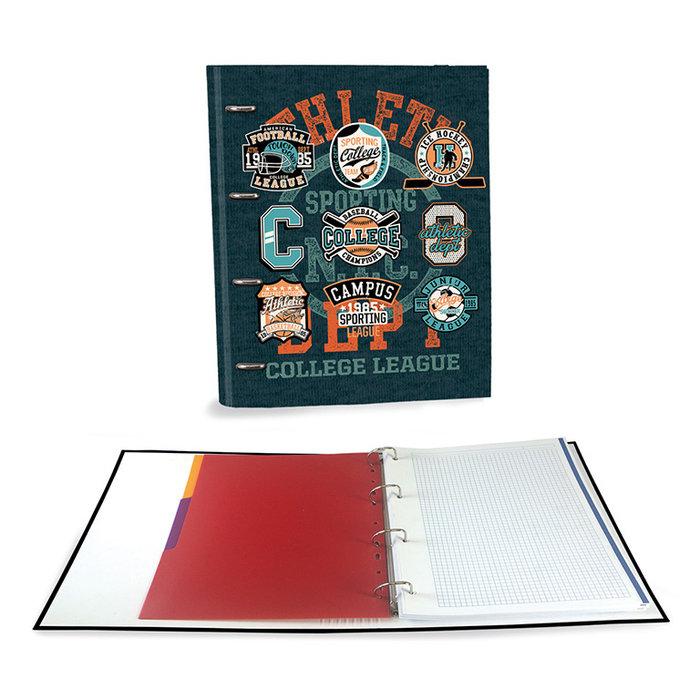 Carpeta carton a4 4 anillas c/recambio original verde