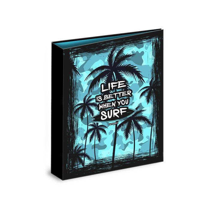 Carpeta carton folio 4 anillas palm surf camuflaje