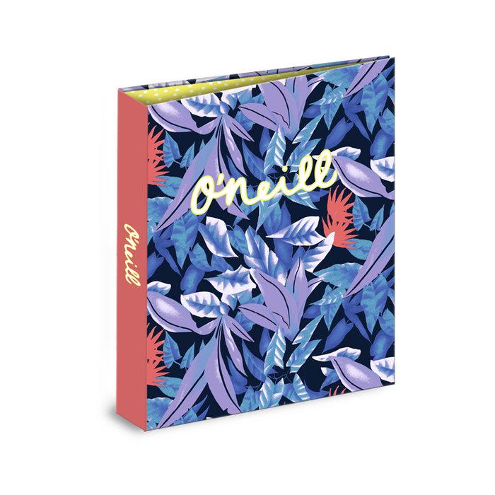 Carpeta carton folio 4 anillas oneill estampado azul