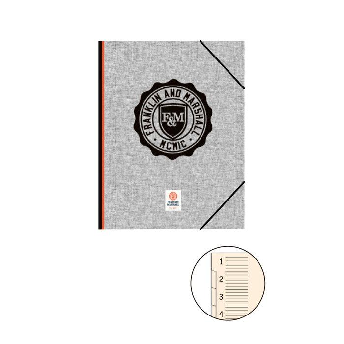 Carpeta clasificadora c/solapa marshall gris