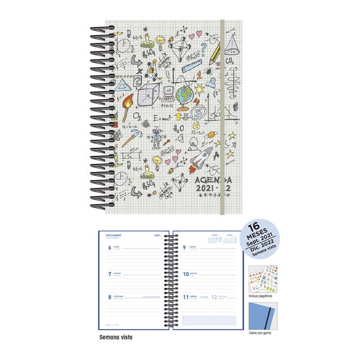 Agenda escolar 12 x 17  s/v maths