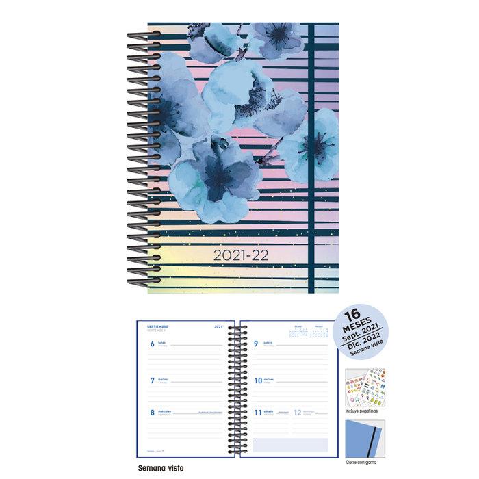 Agenda escolar 12 x 17  s/v  blossoms