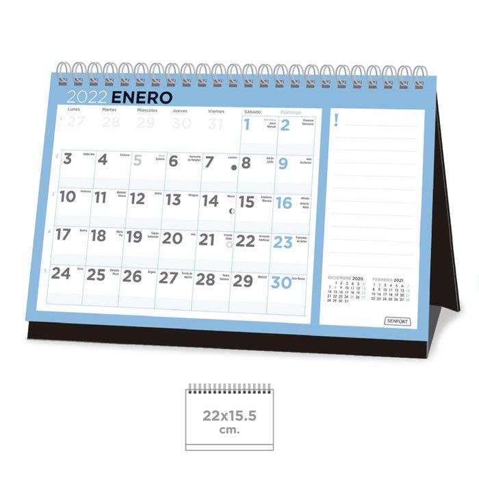 Calendario sobremesa basic  22 x 15,5 cm.