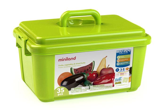 Juego figuras frutas hortalizas frutos secos 35 uds