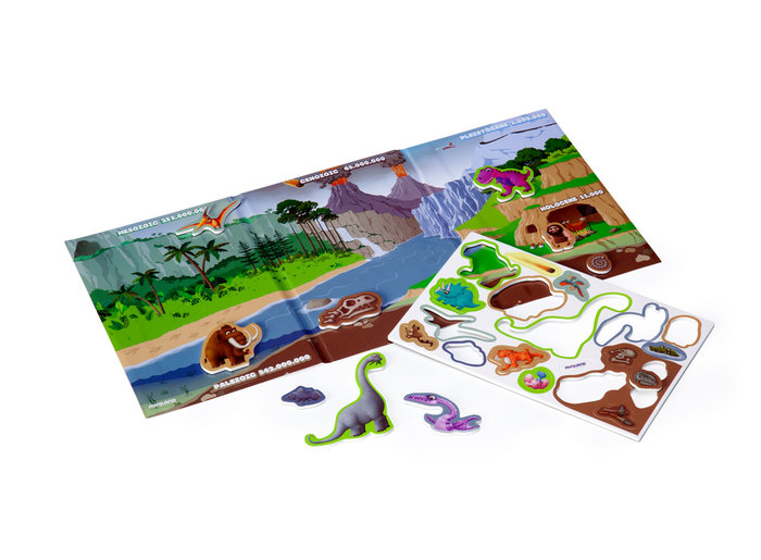 Juego magnetico on the go: evolution dinosaurios