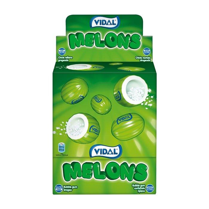 Golosina melones chicle grageado 200 ud