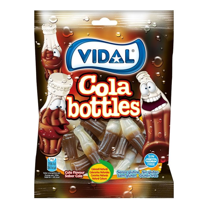 Golosina botellas cola 14 bolsas de 100 gr.