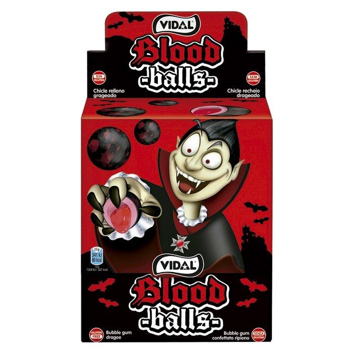 Golosina blood balls chicle con relleno liquido 200 uds
