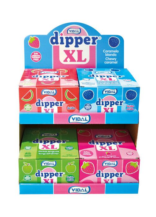 Golosina lote expositor con 4 cajas 100 dipper 4 sabores