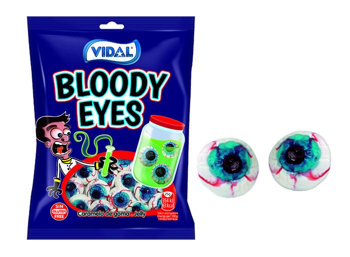 Golosina ojos de goma bolsa de 100 gr