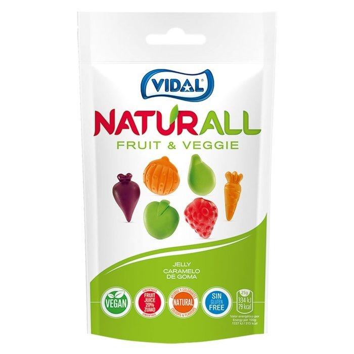 Golosina naturall fruit&veggie 10 bolsas 180gr