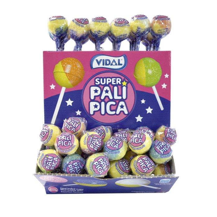 Golosina superpalipica caramelos con palo 100 ud