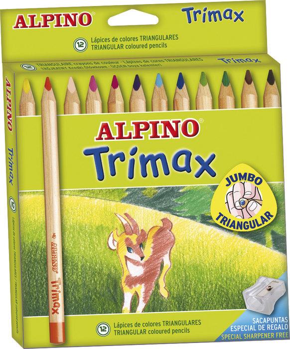 Lapiz alpino 12 colores trimax