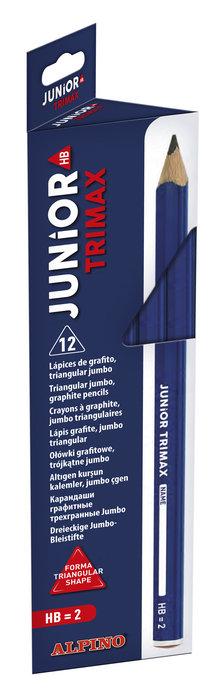 Lapiz alpino junior trimax hb grueso grafito