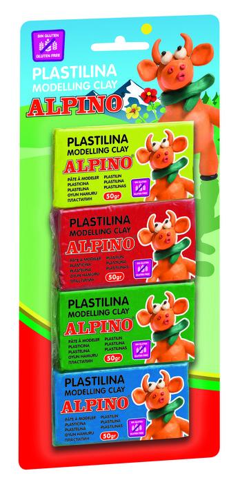 Plastilina alpino de 50 gr colores parchis blister 4 unidade