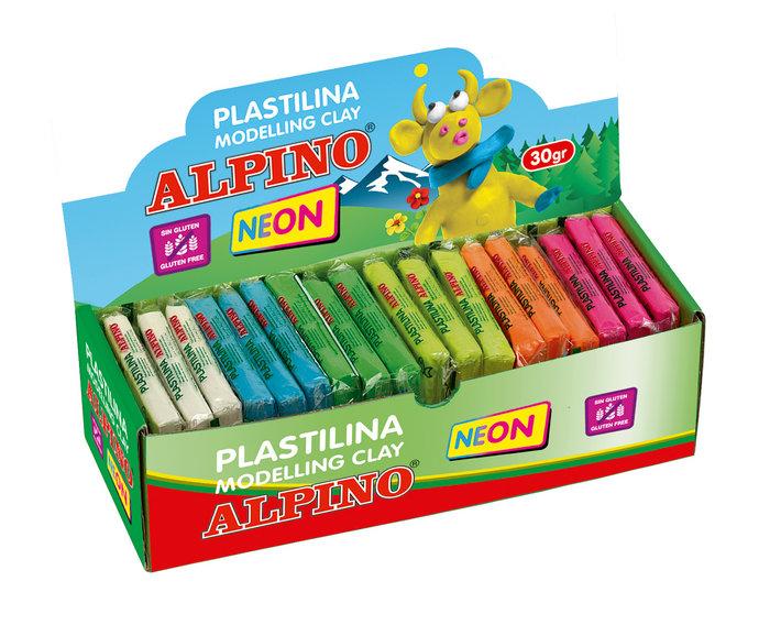 Plastilina fluor alpino 30 gr expositor de 36 unidades