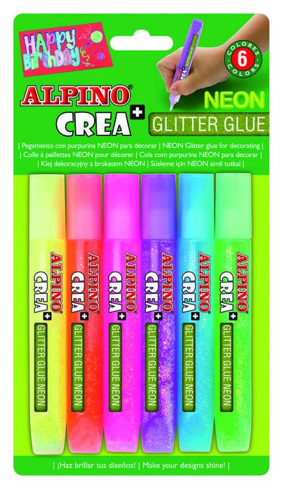 Blister alpino glitter neon 6 uds