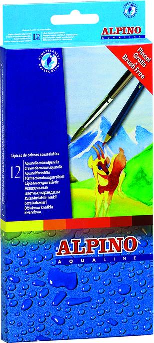 Lapiz aqualine 12 colores carton
