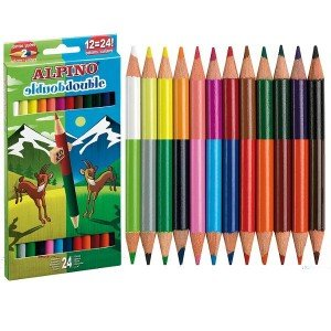 Lapiz alpino 12 colores doble punta