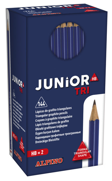 Lapices grafito junior tri hb pack 144 uds