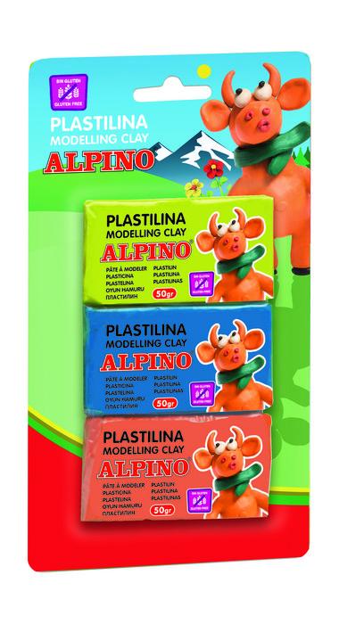 Plastilina alpino 50 gr blister 3 unidades