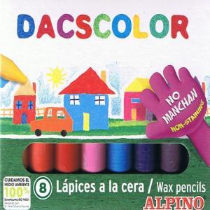 Cera dacscolor c/8 colores surtidos