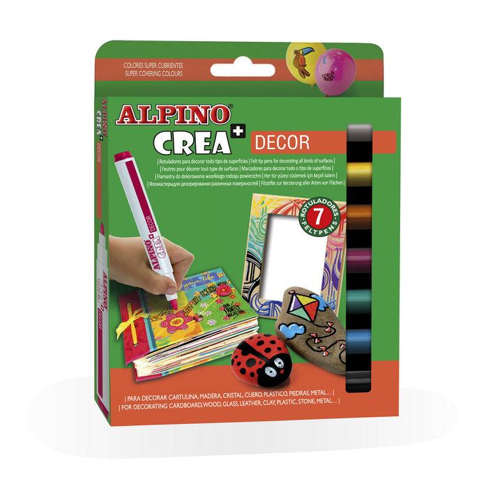 Rotulador alpino 7 colores decor