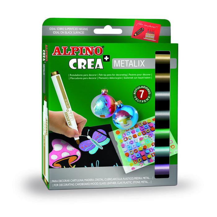 Rotulador alpino 7 colores metalizados surtidos metalix
