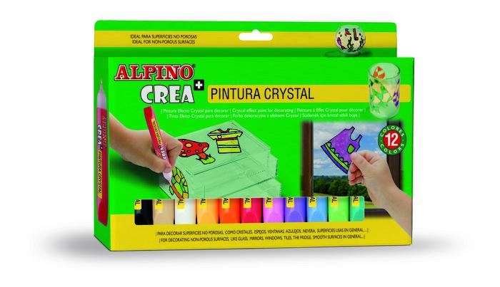 Pintura de cristal alpino crea c/12