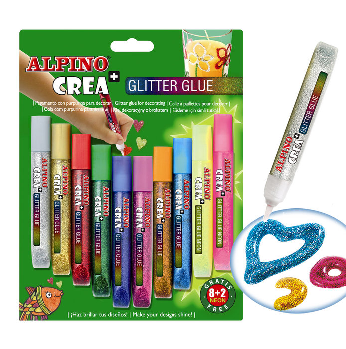 Blister 8 + 2 glitter classic alpino