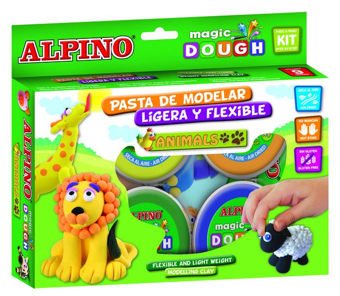 Pasta alpino magic dough animales 6 x 40gr