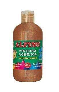 Pintura acrilica escolar botella 250 ml bronce