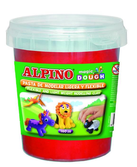 Pasta alpino magic dough bote 160grs rojo