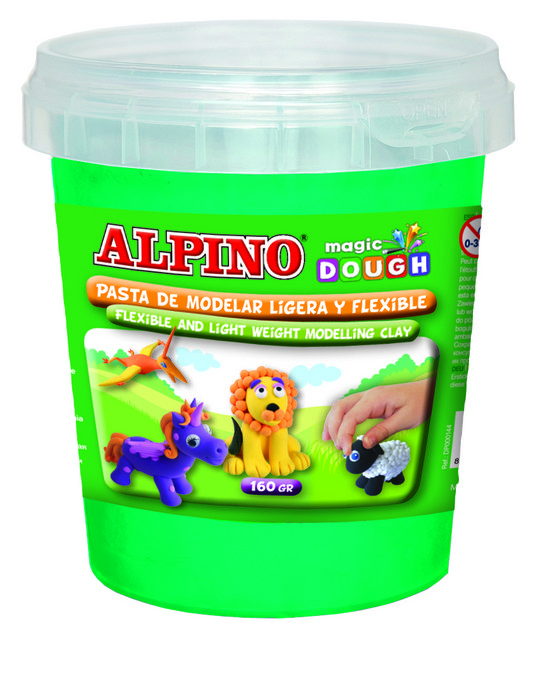 Pasta alpino magic dough bote 160grs verde