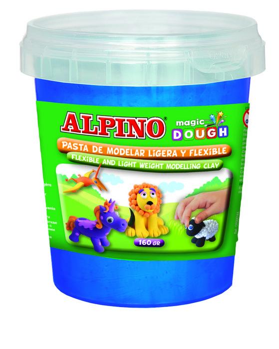Pasta de modelar alpino magic dough bote 160 gr azul