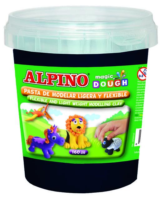 Pasta alpino magic dough bote 160gr negro