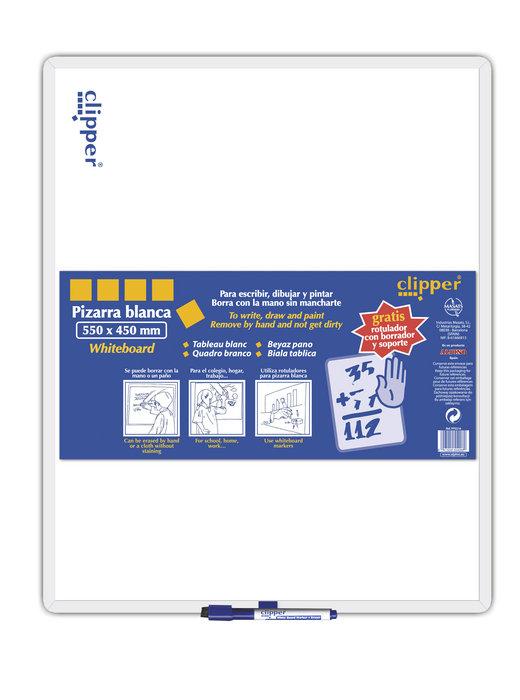 Pizarra blanca clipper 44x55 con rotulador