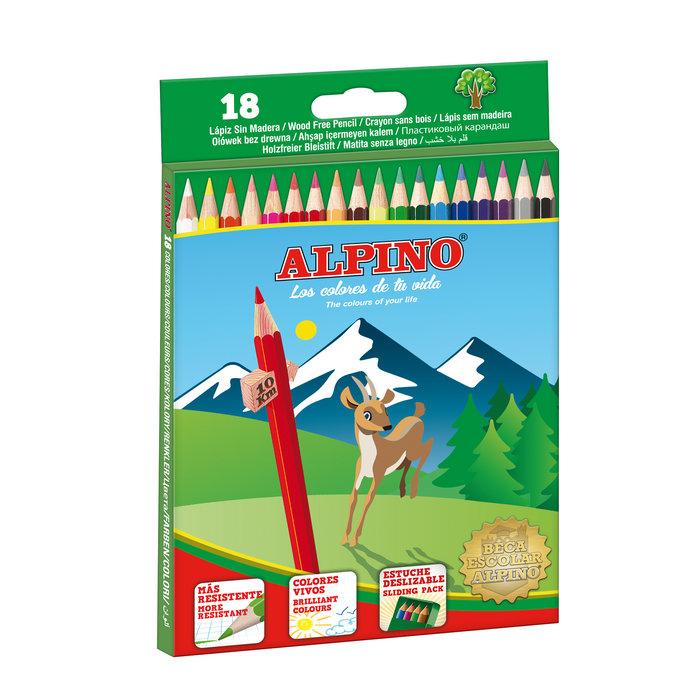 Lapiz alpino 18 colores wf 656 largo