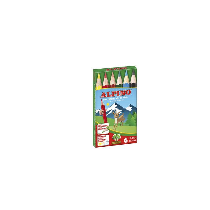 Lapices alpino corto estuche 6