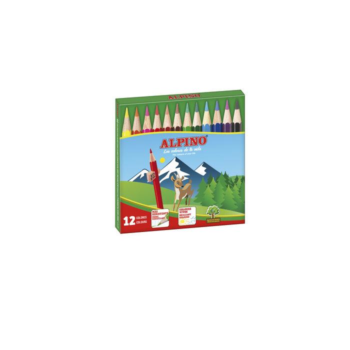 Lapices alpino corto estuche 12 unidades