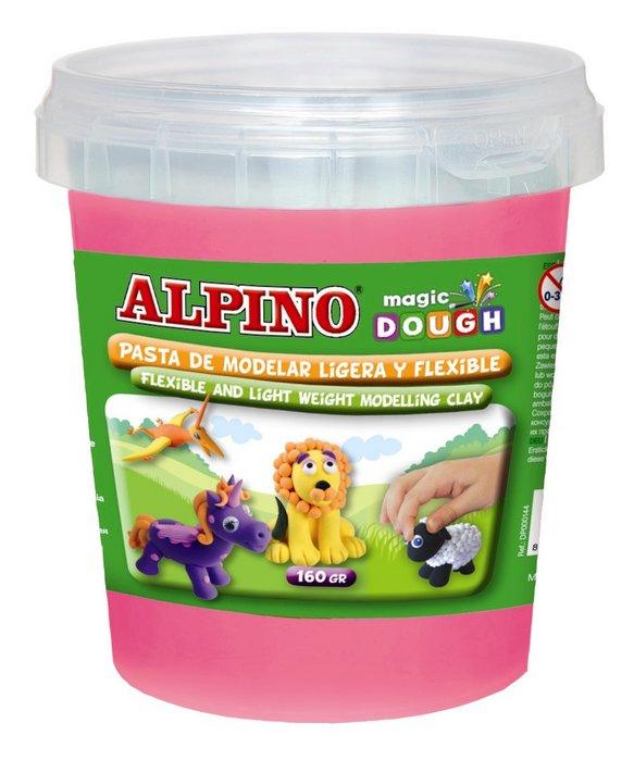 Pasta de modelar alpino magic dough bote 160 gr rosa