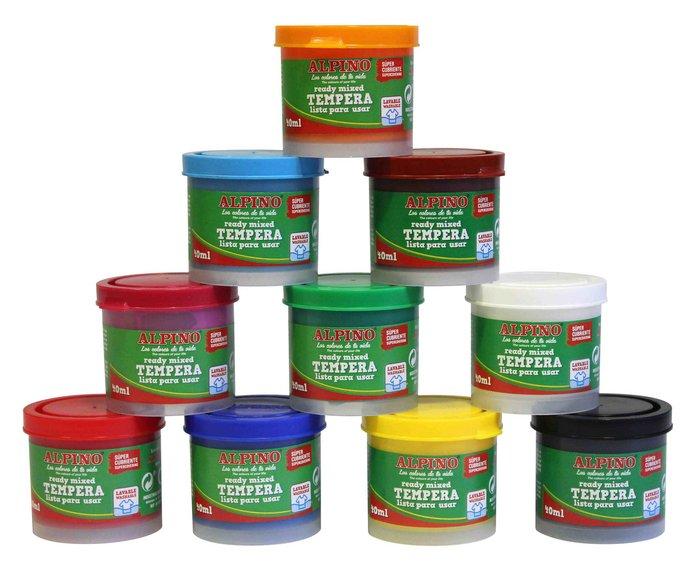 Temperas alpino de 40 ml verde prado