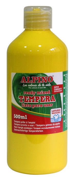 Tempera liquida alpino 500ml amarillo